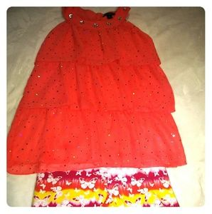 George girls set top and short size 10-12